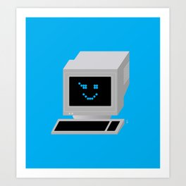 Ol' School Computing Art Print