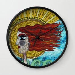 OnShore Annie Mosaic Wall Clock