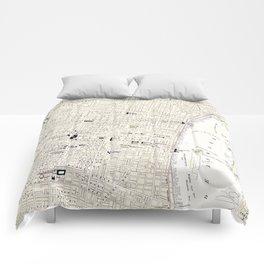 Vintage Map of Philadelphia (1885) Comforters