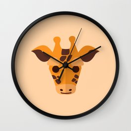 Cute Baby Giraffe Wall Clock