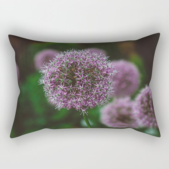 New York Alliums II Rectangular Pillow