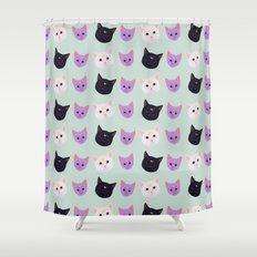 MOON CAT TRIO Shower Curtain