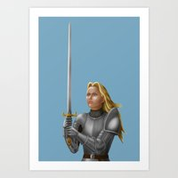 knight Art Prints featuring Knight by Egberto Fuentes