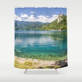 Bled lake Shower Curtain