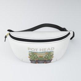 Funny Pot Head Gardening & Plant Pun Fanny Pack