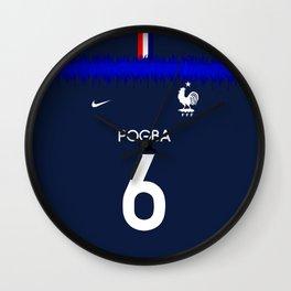 Pogba - France World Cup 2018 Wall Clock