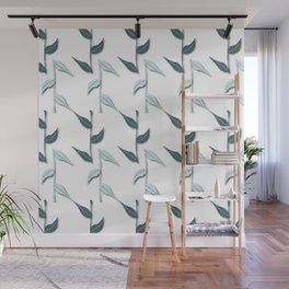 Pine and Mint Bambu Leaves Wall Mural