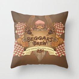 Beggars Brew Throw Pillow