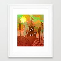 castle in the sky Framed Art Prints featuring Castle by Ingrid Castile