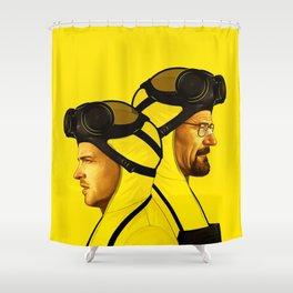 HEISENBERG TWIN YELLOW Shower Curtain