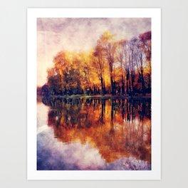 Autumn Cracow Art Print