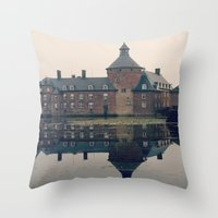 castle Throw Pillows featuring Castle by DuniStudioDesign