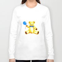 teddy bear Long Sleeve T-shirts featuring Teddy Bear by Artisimo