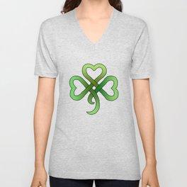 Celtic Clover Unisex V-Neck