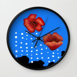 Coquelicot et larmes Wall Clock