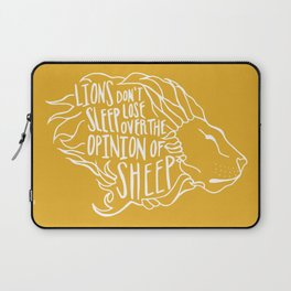 Lions don't lose sleep Laptop Sleeve