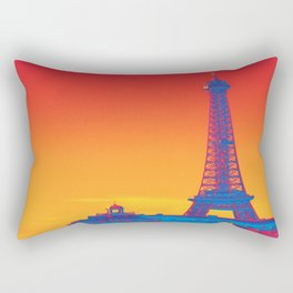 Psychedelic Eiffel Tower Rectangular Pillow