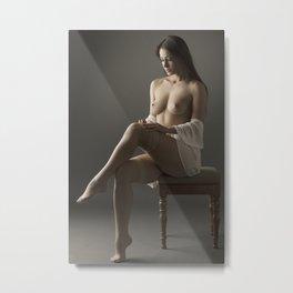 beige stockings 01 Metal Print