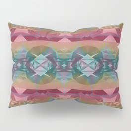 Mauve and Indigo Southwestern Tribal Boho Pillow Sham