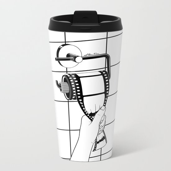 Past is shit Metal Travel Mug