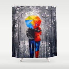 Bright walk Shower Curtain