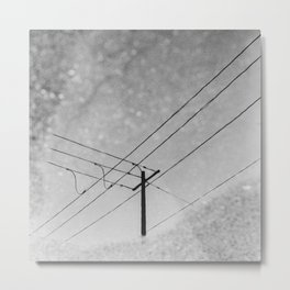 Crossed wires reflection Metal Print