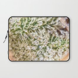 Top Shelf Indoor Skywalker OG Kush Close Up Buds Trichomes View Laptop Sleeve