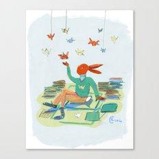Origami Bunny Canvas Print