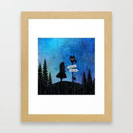 Any Road Will Get You There - Alice In Wonderland Framed Art Print