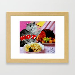 WOT Vintage Cat Stealing Some Meat Framed Art Print