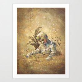 Desert Astronaut Art Print
