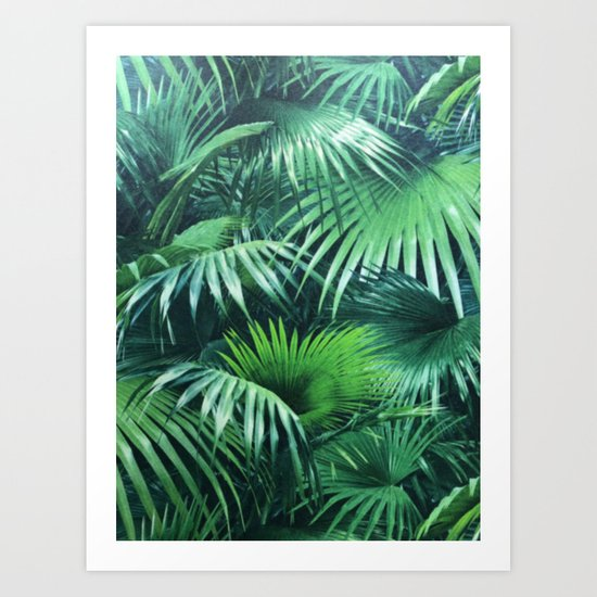 Tropical Botanic Jungle Garden Palm Leaf Green by beautifulhomes