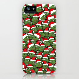 Sad christmas frogs pattern iPhone Case