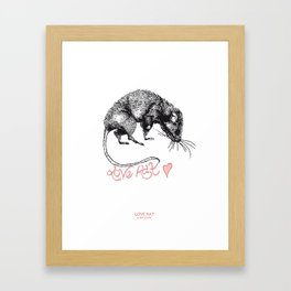 love rat Framed Art Print