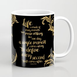 An Ember In The Ashes Quote Design in Gold Foil Coffee Mug