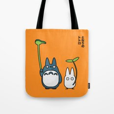 Chu & Chibi Totoro Pop Art - Orange Version Tote Bag