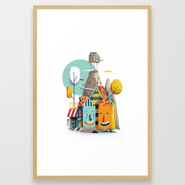good neighbours Framed Art Print