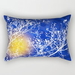 Blue Tree Abstract Rectangular Pillow