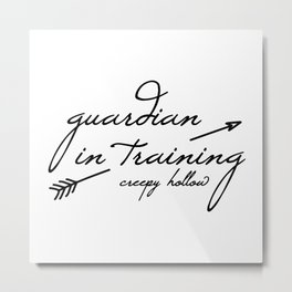Guardian in Training Metal Print