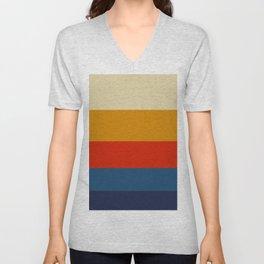 Summer of 69 Vintage Color Palette Colorful Color Block Pattern Unisex V-Neck