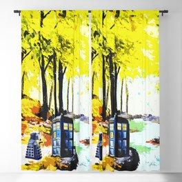 Tardis Art Speaking With Dalek Blackout Curtain