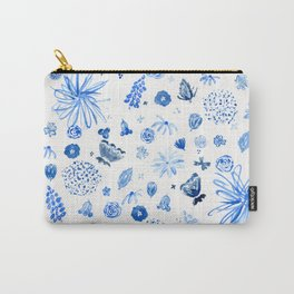 All the blue flowers Carry-All Pouch