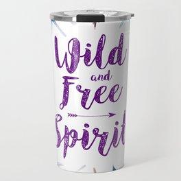 Feathers, Wild and free spirit Travel Mug