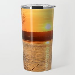 Topsail Island Sunset Travel Mug