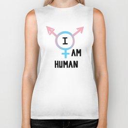 I Am Human Biker Tank