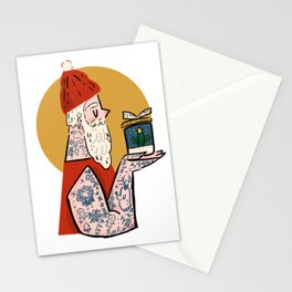 Hipster Santa Stationery Cards