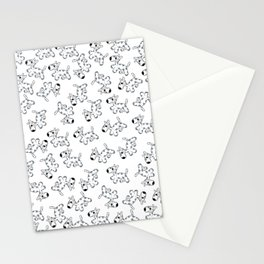 milk cow dog Stationery Cards
