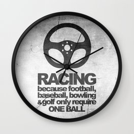 Racing Quotes Wall Clock