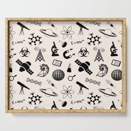 Science Symbols // Antique White Serving Tray