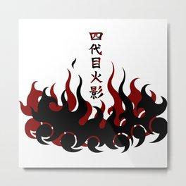 Naruto 4th Hokage Metal Print